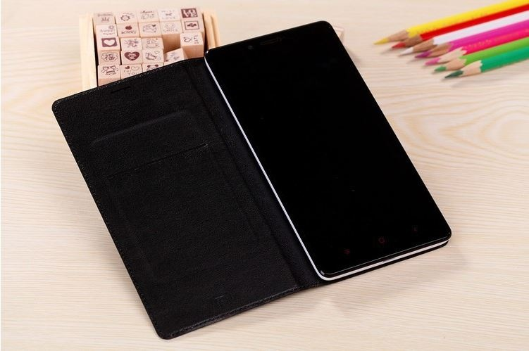Xiaomi Redmi Note Leather Wallet Flip Case Black