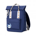 Xiaoyang curling fun casual backpack Blue