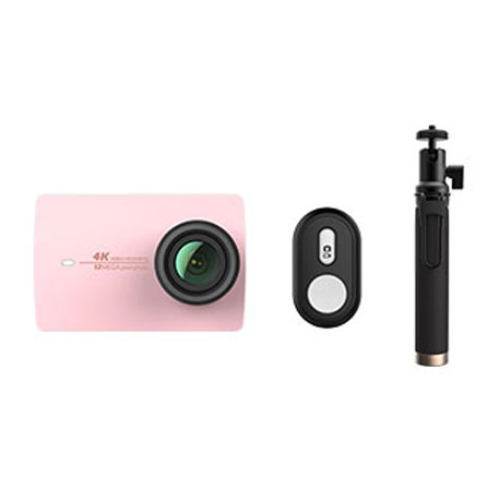 Yi 4K Action Camera 2 Pink Bluetooth Kit